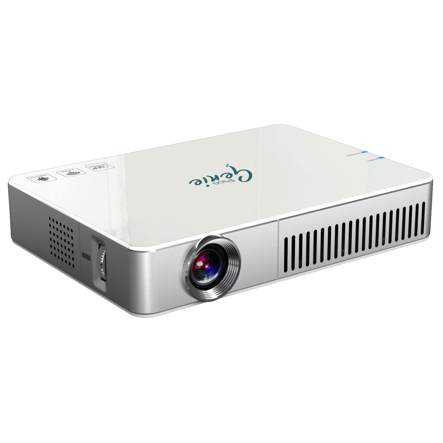 Pico genie m550 plus hd led projector for Hd pico projector
